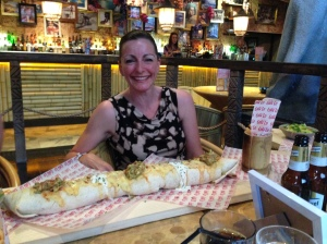 Woman v Food at Lola Lo's in Derby....it beat me