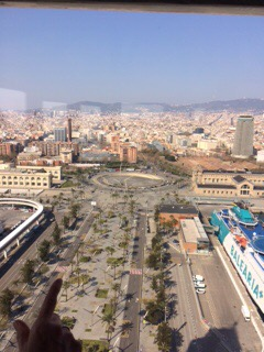 Barcelona marathon 2016, view from the cable car