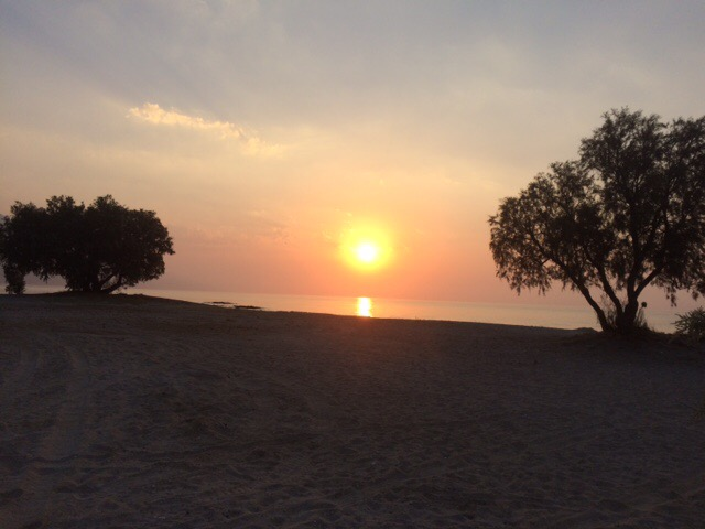 A runners  reward, sunrise on Kos