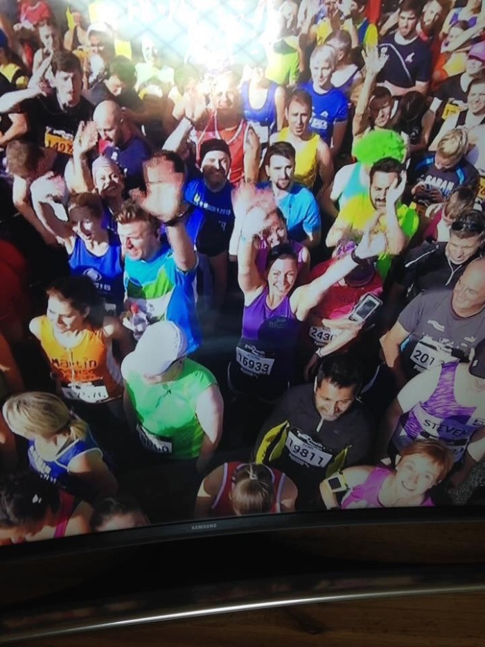 Seconds of fame, look I'm on the telly box!